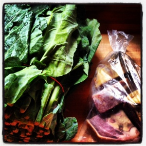 I LOVE to make the collard greens recipe from Magnolia's restaurant in Charleston.
