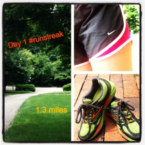 I'm enjoying keeping track of my run streak on Instagram.