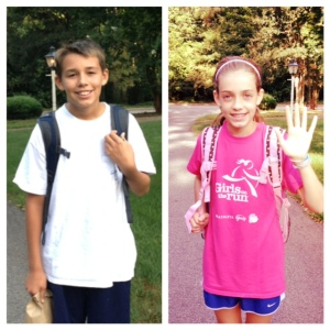 First day of school - 8th grade & 5th grade