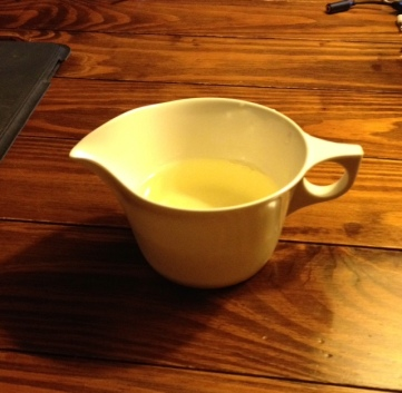 Well, maybe he didn't think of EVERYTHING, but I enjoyed drinking wine from a plastic gravy boat! :)
