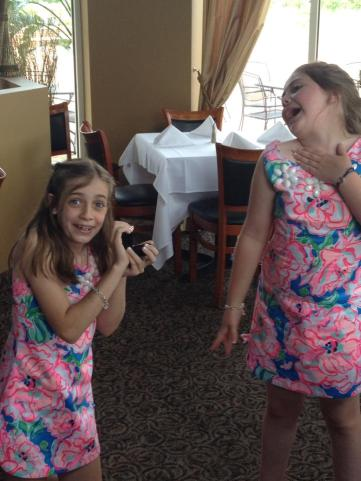 Silly girls on the day they became SISTERS.