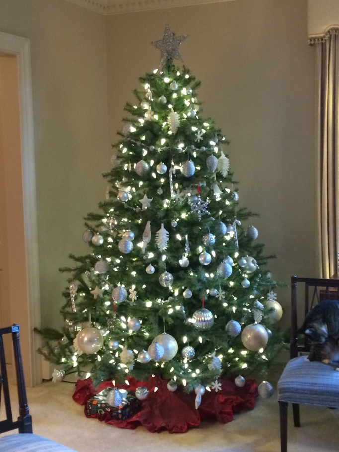 The white Christmas tree